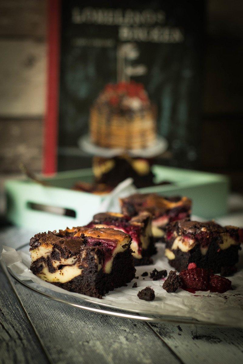 Rezept Himbeer Cheesecake Brownies