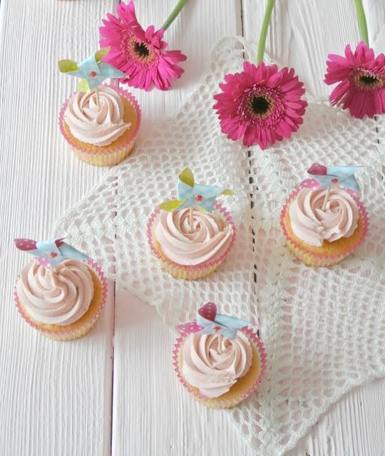 Rezept Himbeer Cupcakes