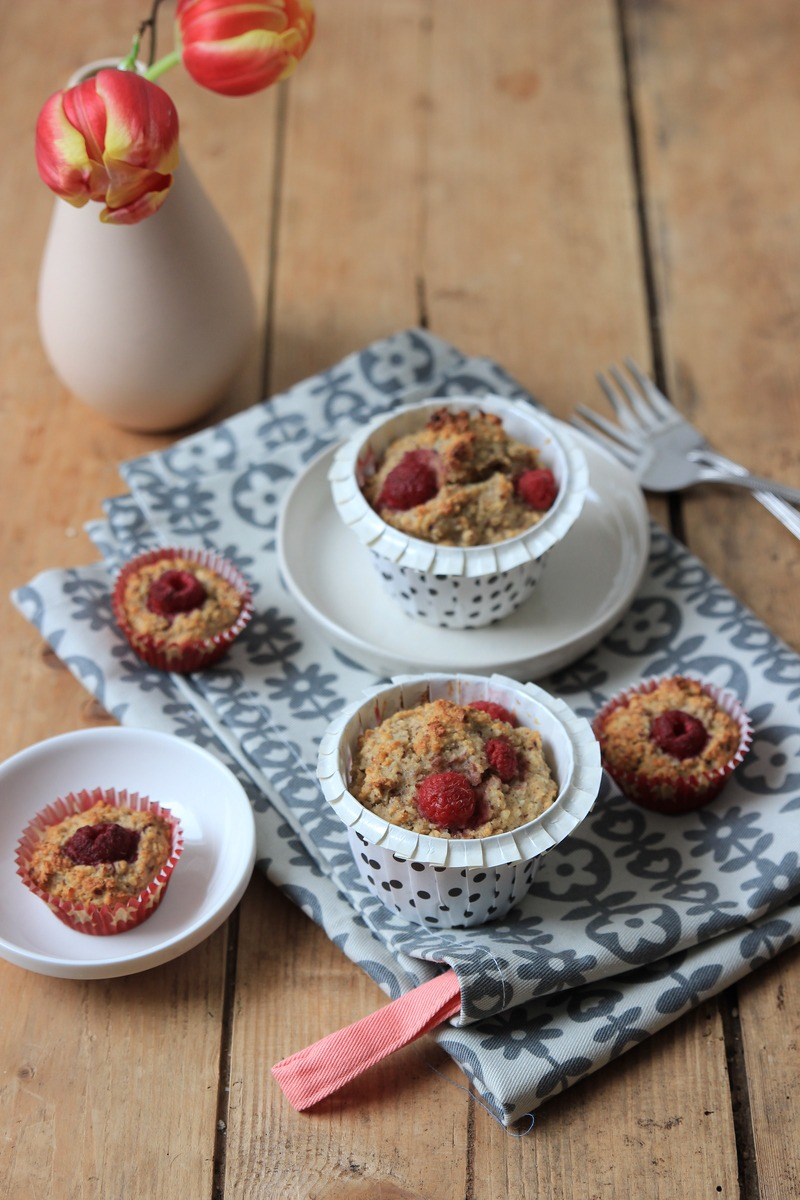 Rezept Himbeer-Haferflocken-Muffins ohne Zucker