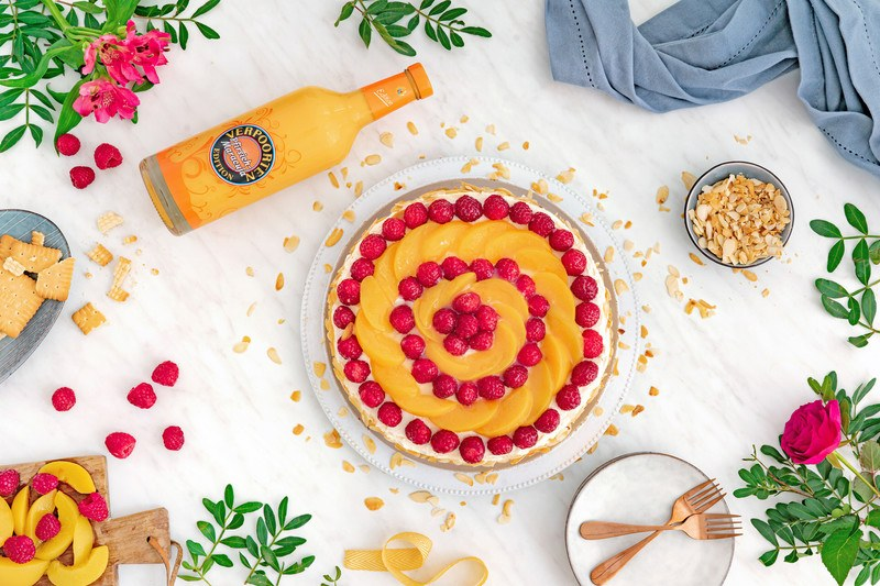Rezept Himbeer-Joghurt-Partytorte mit Eierlikör Pfirsich-Maracuja