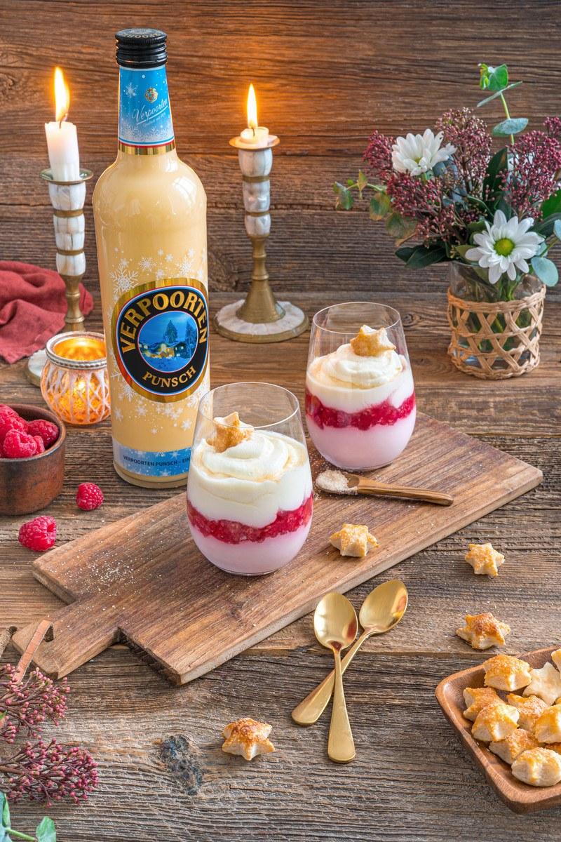 Rezept Himbeer-Mascarpone-Eierpunsch-Dessert mit Original-Eierlikör-Punsch