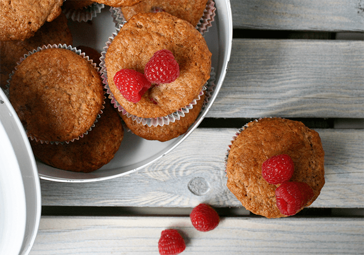 Rezept Himbeer Muffins mit Haferflocken