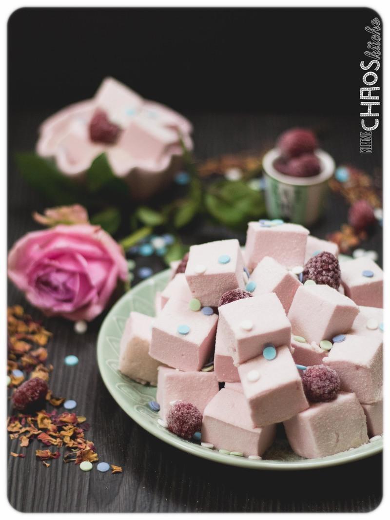 Rezept Himbeer Rosen Marshmallows