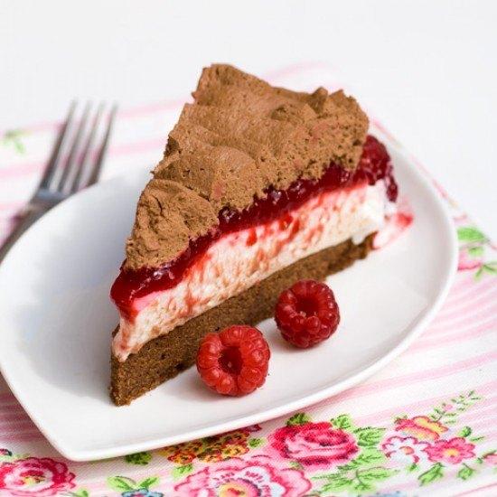 Rezept Himbeer-Schoko-Mousse Torte
