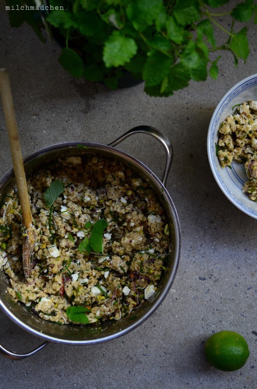 Rezept Hirsesalat mit Feta, Pistazien und Würzdressing