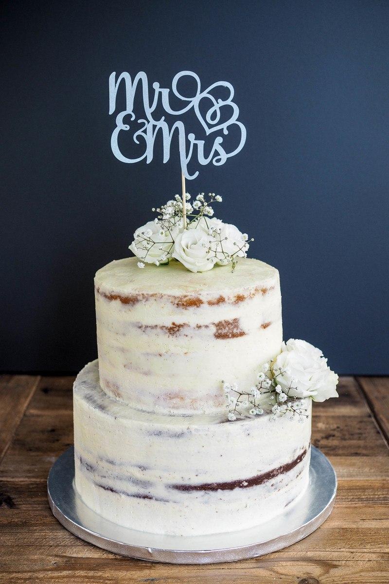 Rezept Hochzeitstorte als Semi-Naked Cake