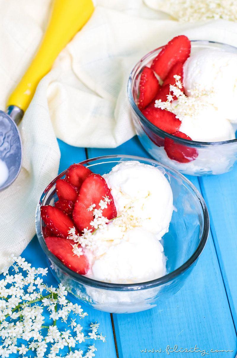 Rezept Holunderblüten Frozen Yogurt