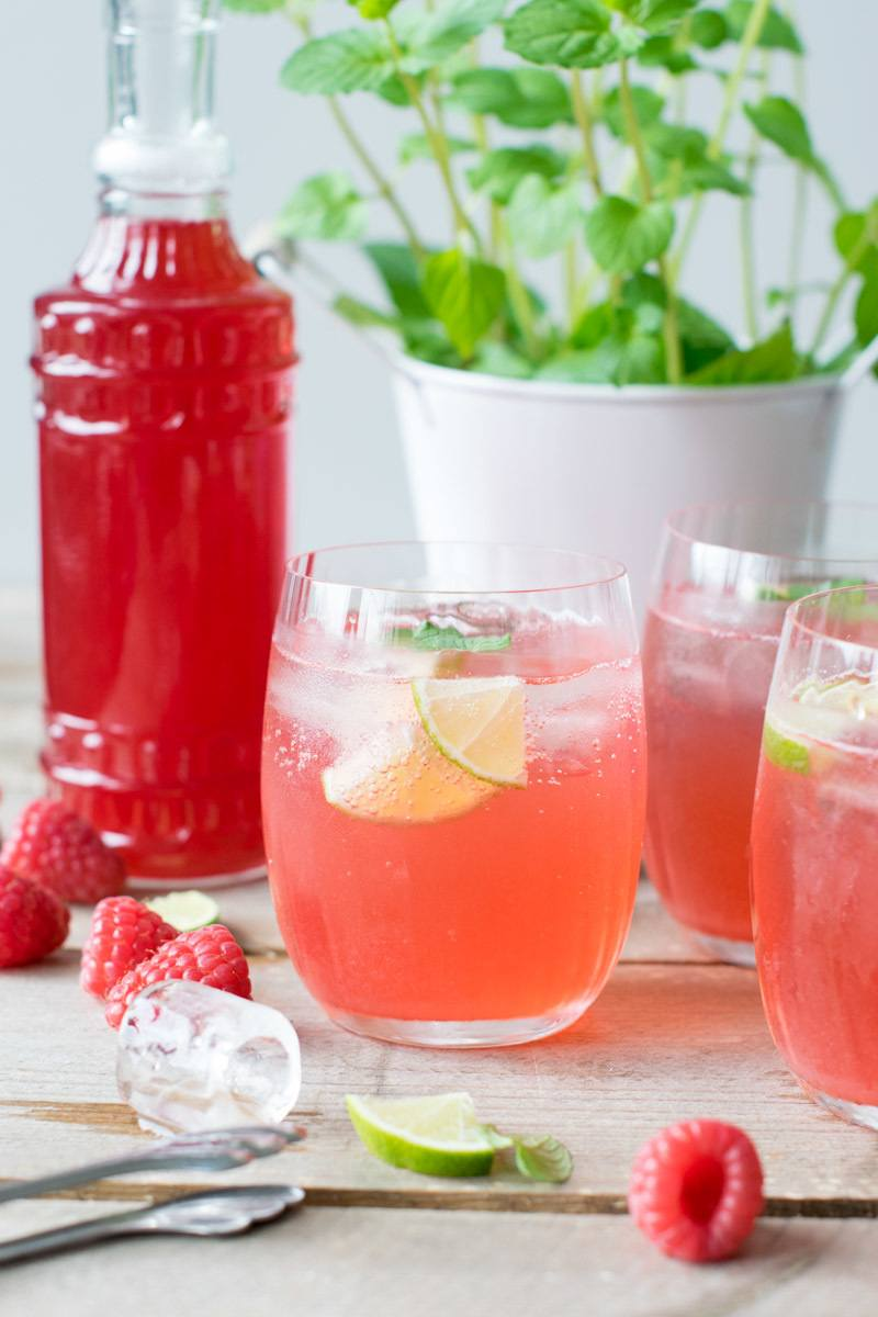 Rezept Homemade Himbeer-Limonade
