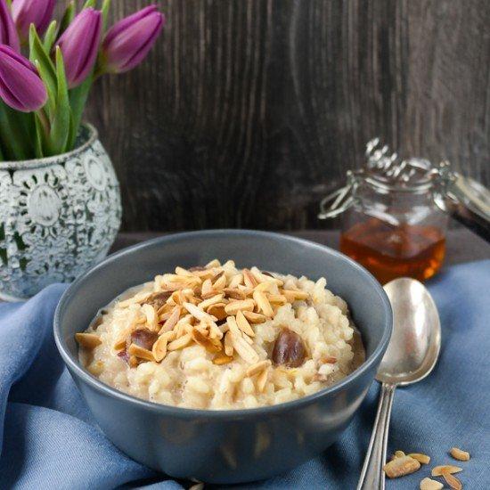 Rezept Honigmilchreis mit Mandeln