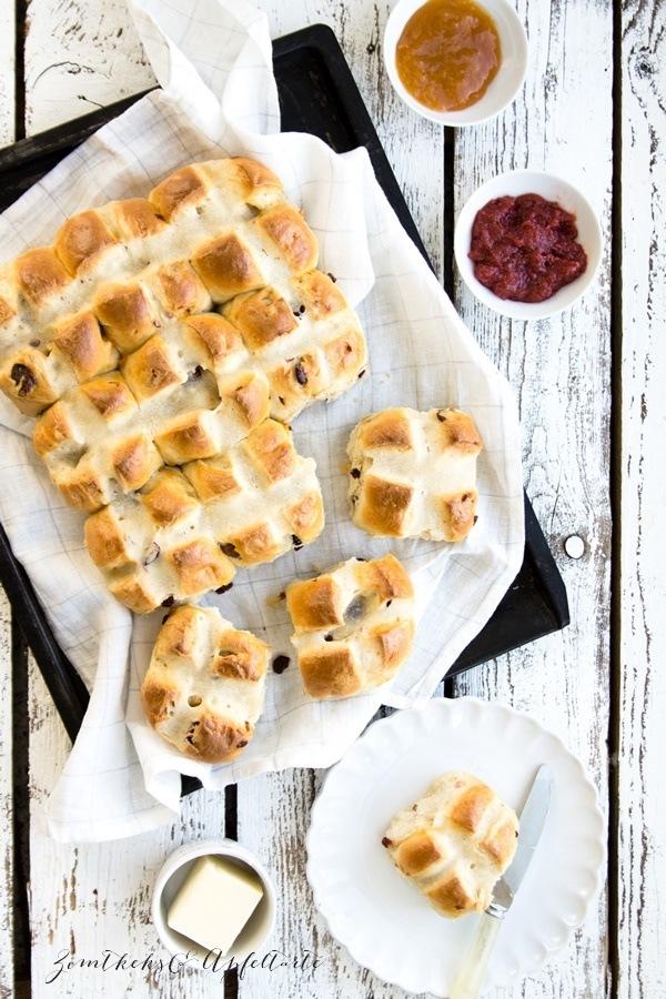 Rezept Hot Cross Buns - fruchtig und lecker