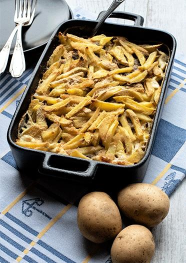 Rezept Janssons Versuchung – Schwedischer Kartoffelauflauf