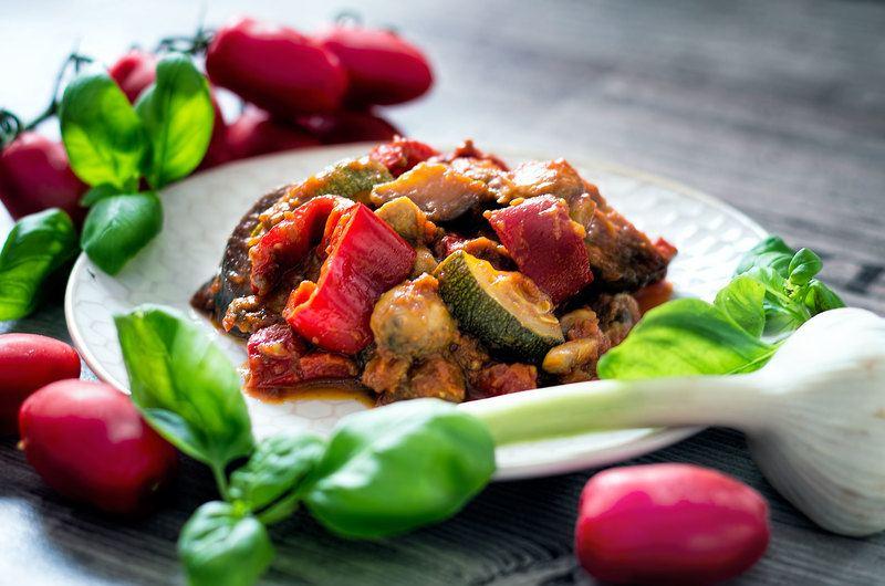 Rezept http://www.tofutante.de/mediterrane-gemuese-pfanne/