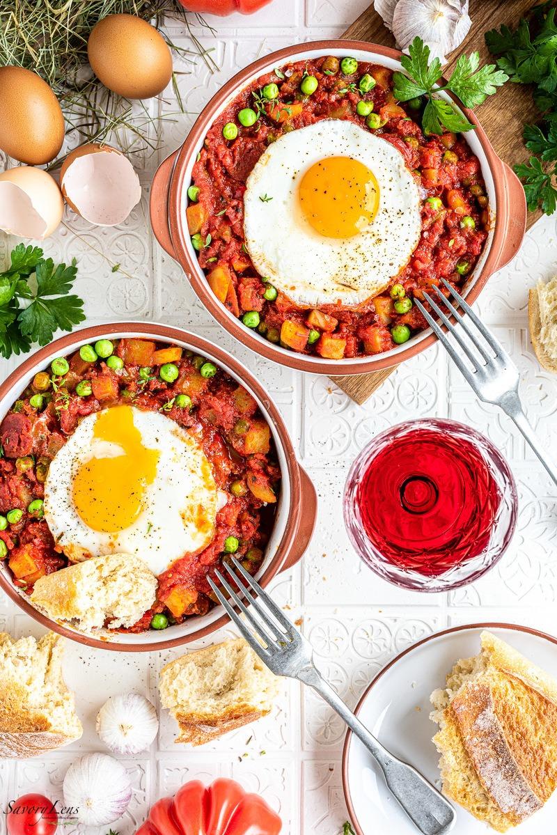 Rezept Huevos a la flamenca – Traditionelle Eierspeise aus Spanien