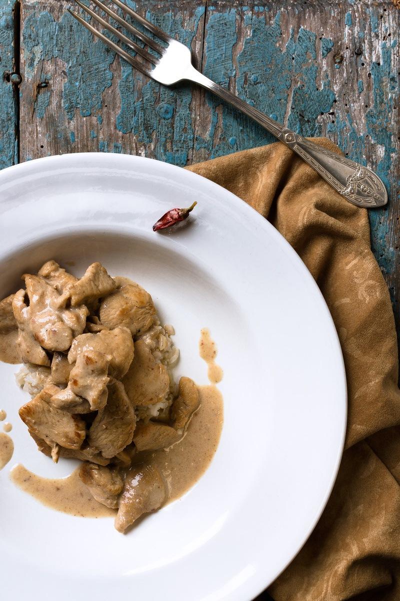 Rezept Huhn mit Waldmeister und Kokosmilch