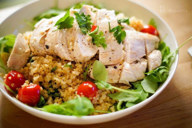 Rezept Hühnerbrust mit Bulgur und Tomaten