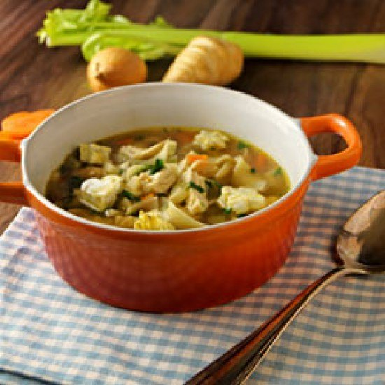 Rezept Hühnernudelsuppe mit Eierstich