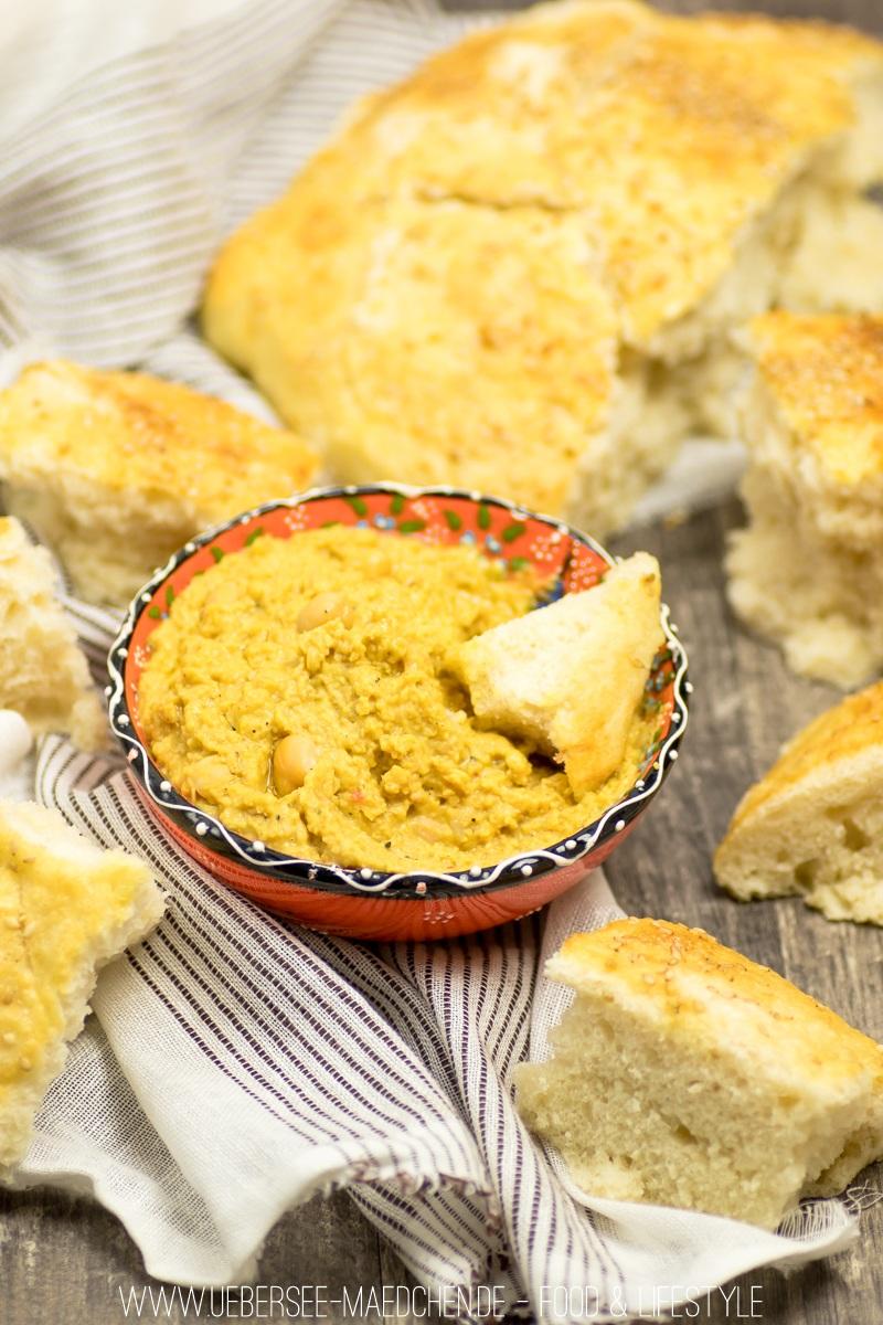 Rezept Hummus mit Ras el-Hanout und Fladenbrot