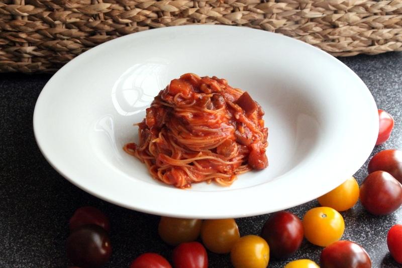 Rezept In der Sauce gekochte Spaghettini