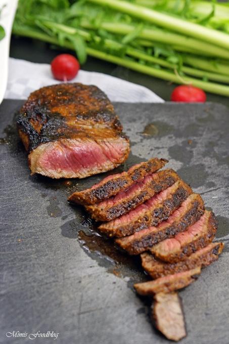 Rezept In Honig-Senf-Whiskey glasiertes Rumpsteak ~ saftig, aromatisches Steak