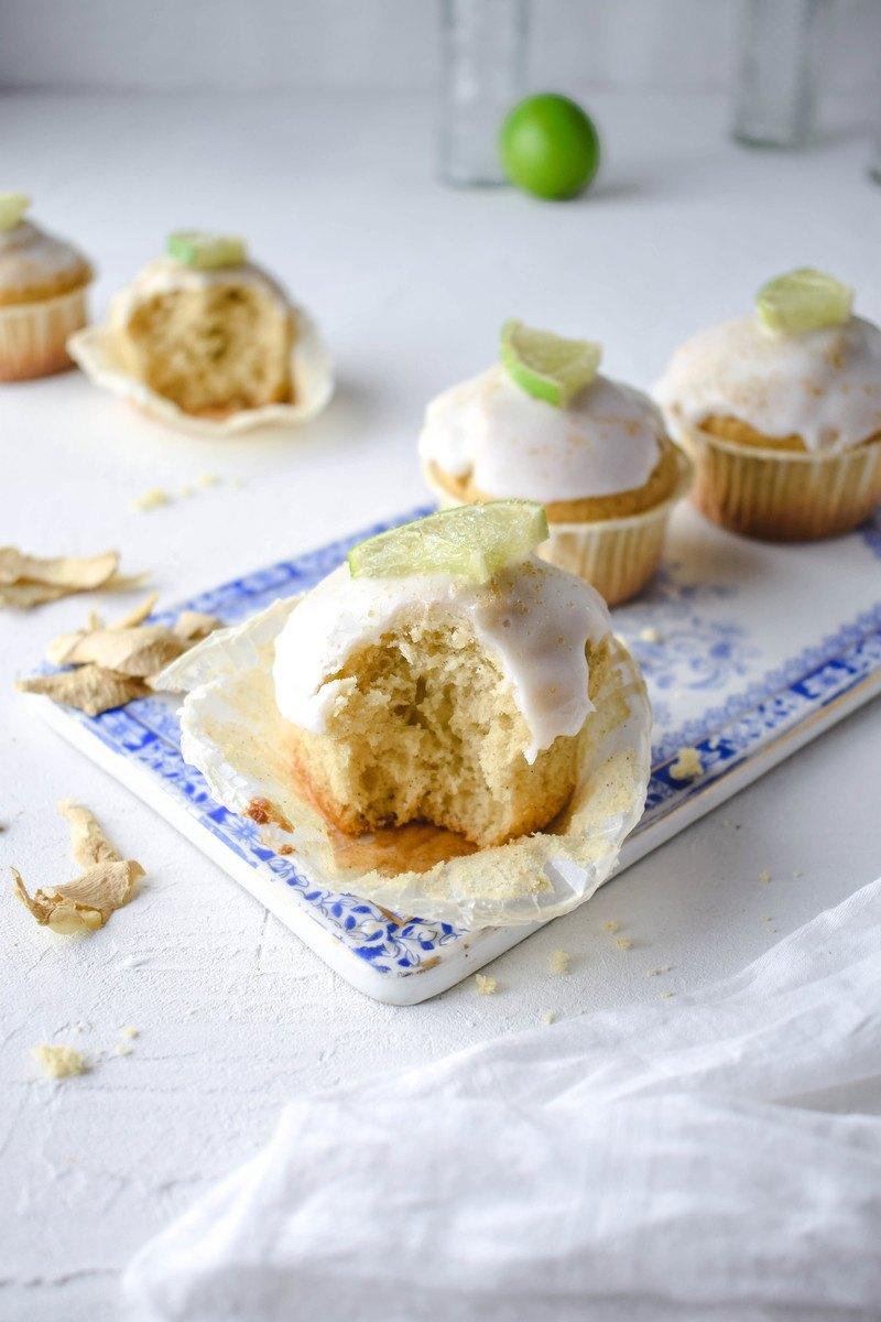 Rezept Ingwer Limetten Muffins mit Kardamom