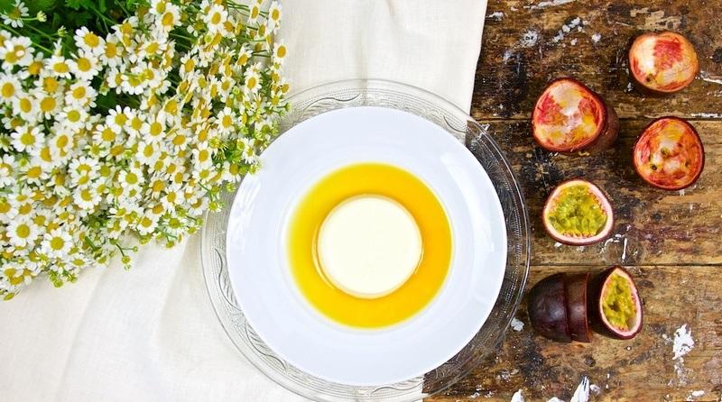 Rezept Ingwer-Panna cotta mit Passionsfrucht-Coulis