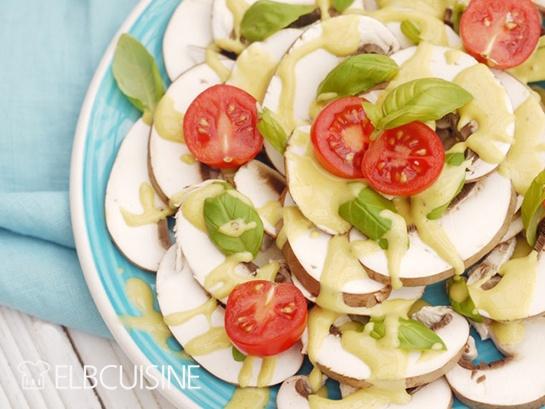 Rezept Insalata di Funghi oder phantastisches Pilz-Carpaccio