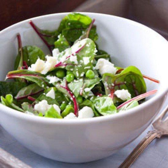 Rezept Insalata Primavera-Frühlingssalat mit Erbsen und Ziegenkäse