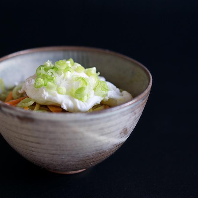 Rezept Japanisches Curry mit Udon-Nudeln und pochiertem Ei - Kare Udon
