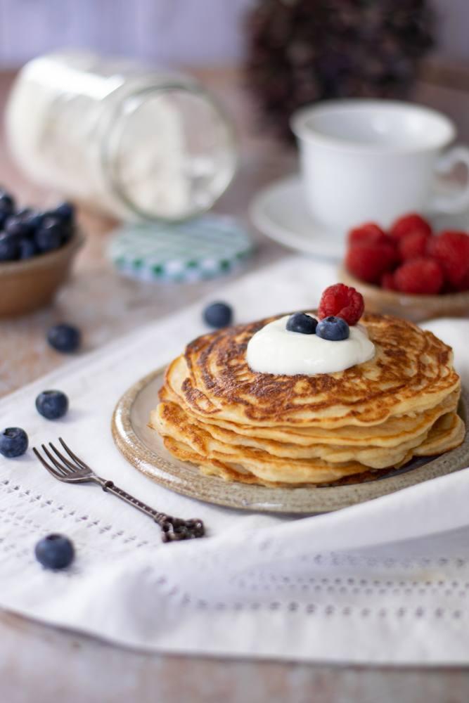 Rezept Joghurt Pancakes mit praktischen Pancakes Mix