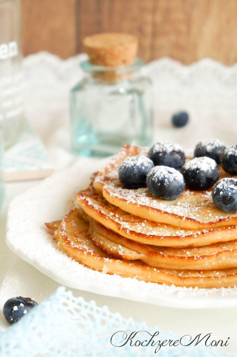 Rezept Joghurt Pfannkuchen mit Blaubeeren