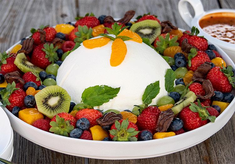 Rezept Joghurtbombe im Fruchtbeet