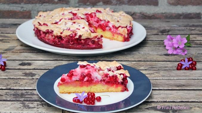 Rezept Johannisbeer-Baiser-Kuchen