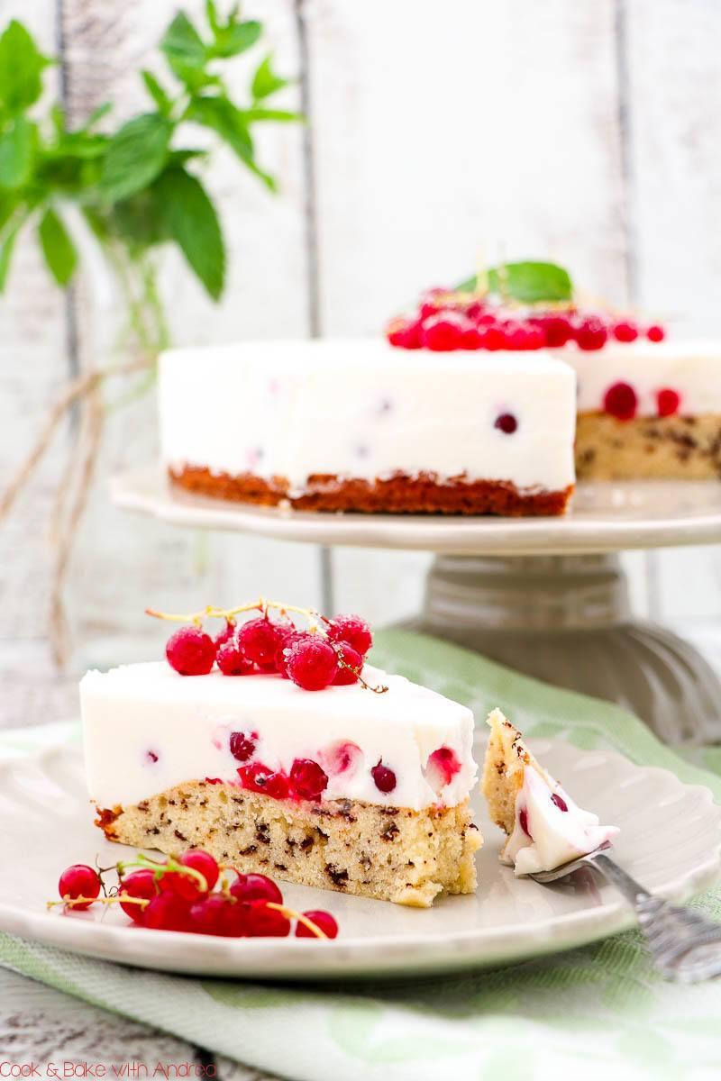 Rezept Johannisbeer-Joghurt-Torte mit Rührteig