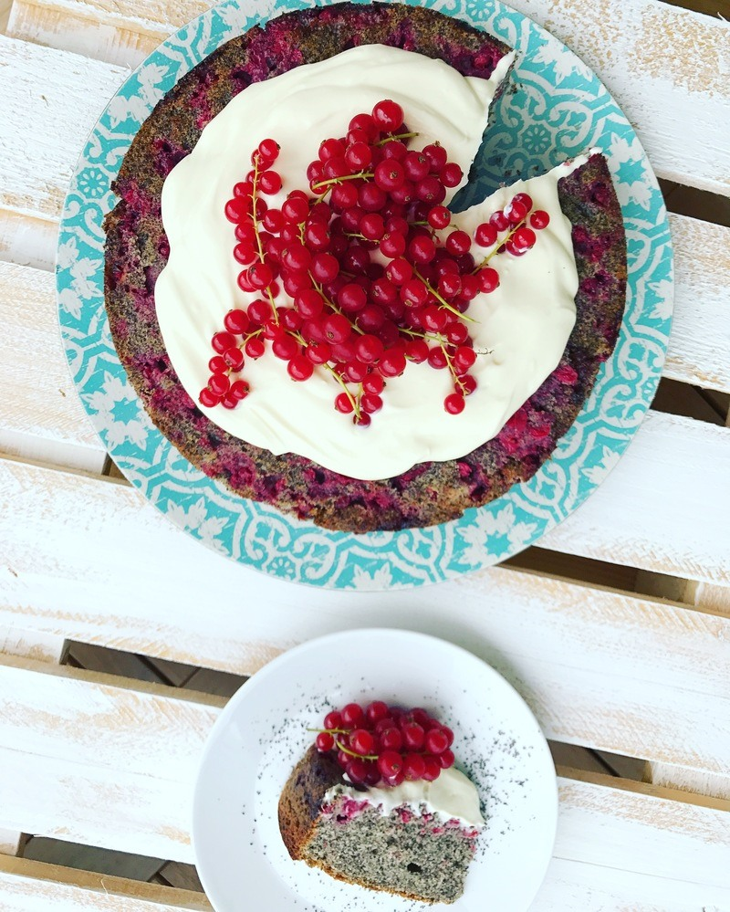 Rezept Johannisbeer Mohnkuchen