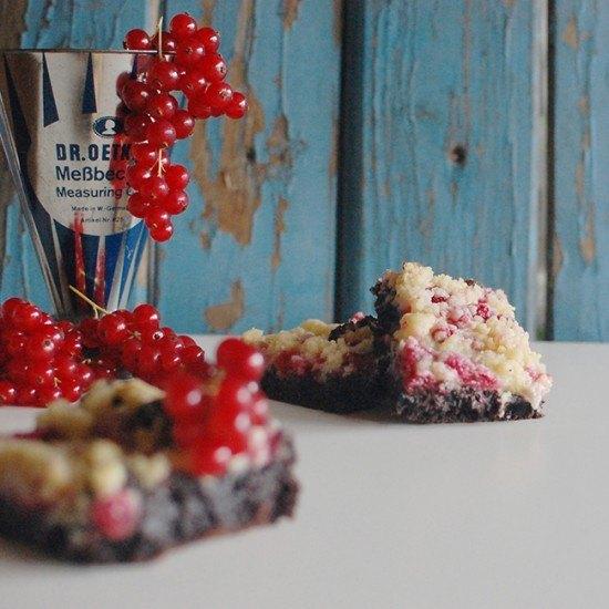 Rezept Johannisbeer Streußel Brownie