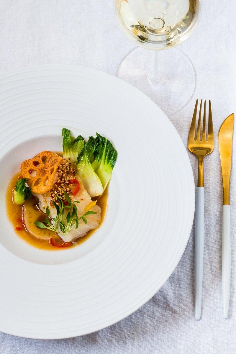 Rezept Kabeljau Sous-Vide | Lotus | Pak Choi | Süß-Saure Chili Sauce