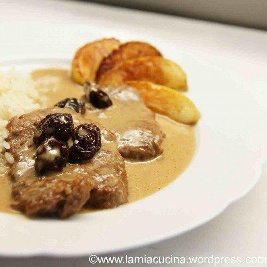 Rezept Kalbsschnitzel an Calvados-Rahmsauce