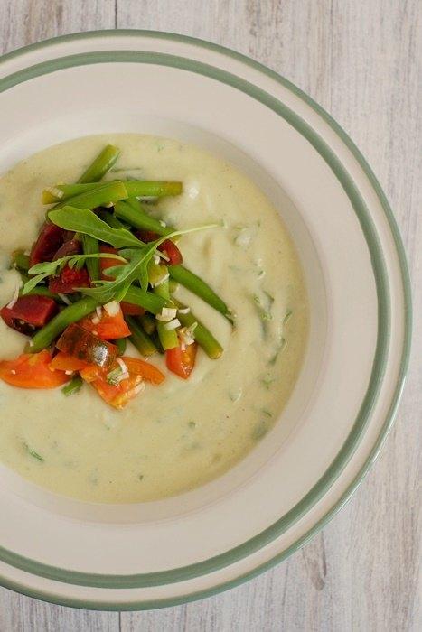 Rezept Kalte Blumenkohl-Avocado-Suppe