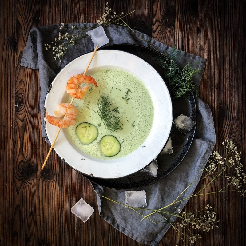 Rezept Kalte Gurkensuppe