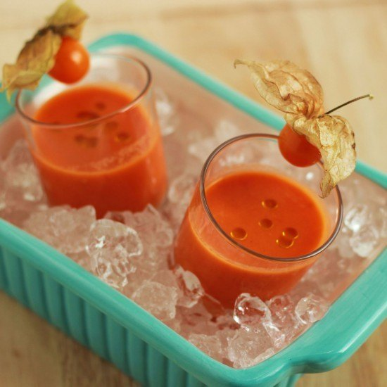 Rezept Kalte Tomaten-Melonen Suppe