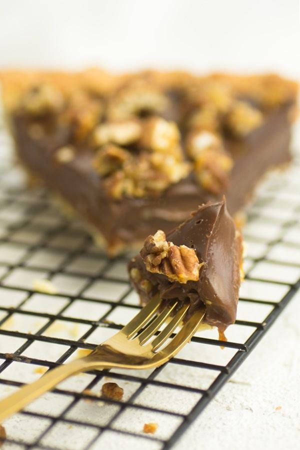 Rezept Karamell-Schokoladen-Tarte mit Pekan-Nüssen
