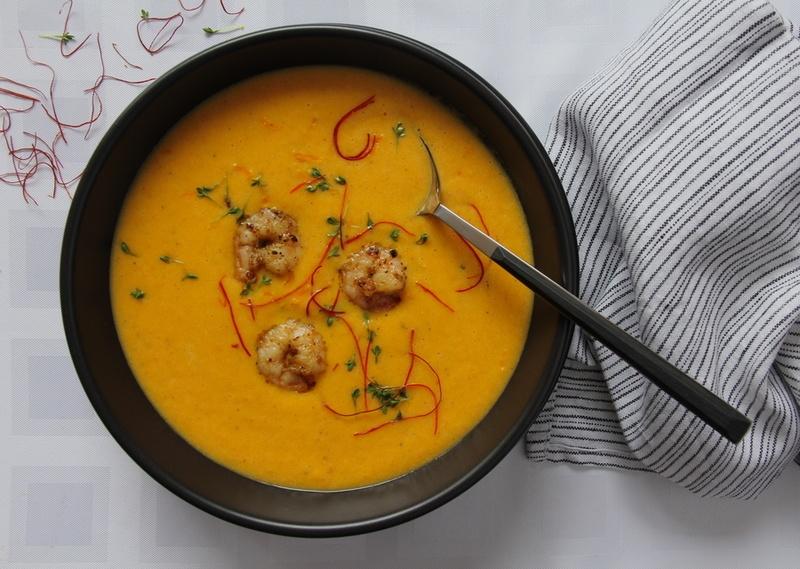 Rezept Karotten-Ingwer-Suppe mit Garnelen