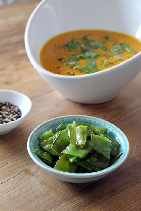 Rezept Karotten-Ingwer-Suppe mit Zuckerschoten