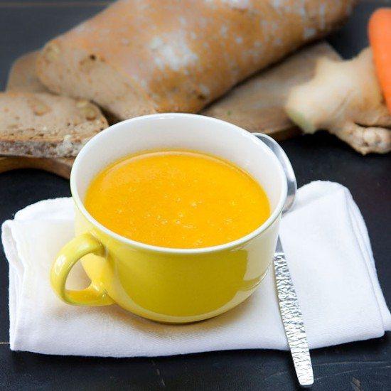 Rezept Karotten Kürbis Suppe mit Ingwer