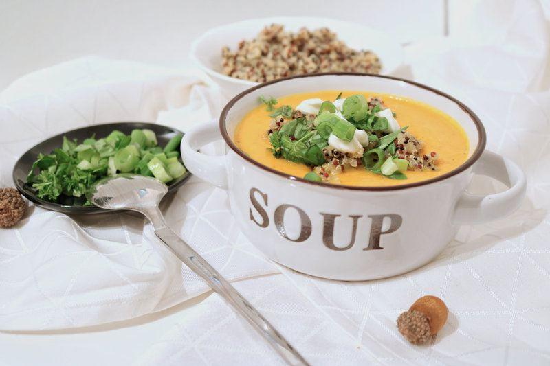 Rezept Karotten-Quinoa Suppe
