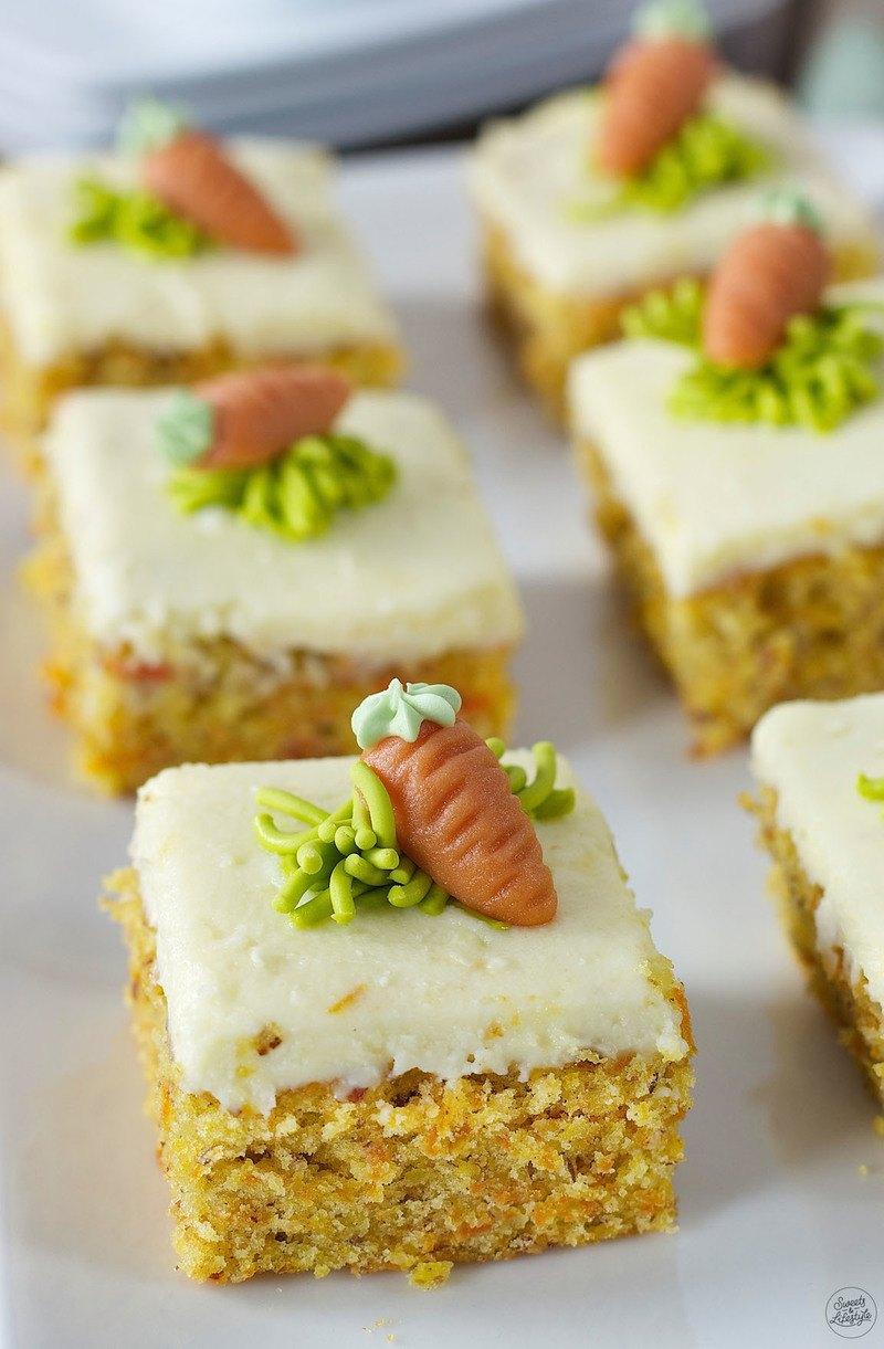 Rezept Karottenkuchen mit Frischkäsefrosting