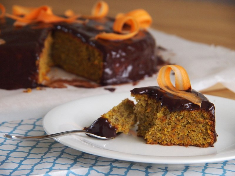 Rezept Karottenkuchen mit Schokoglasur