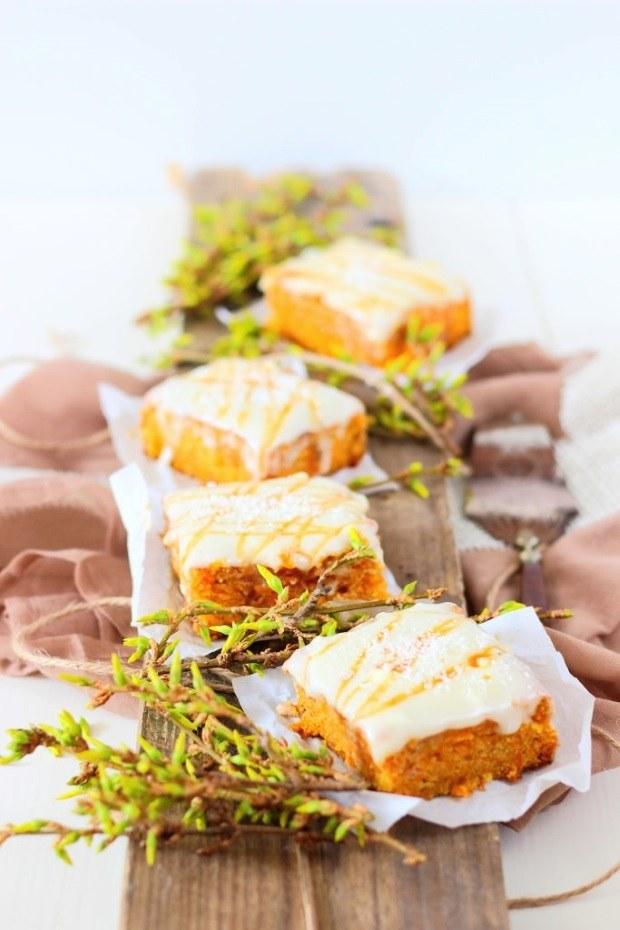 Rezept Karottenschnitten mit Cream Cheese Frosting