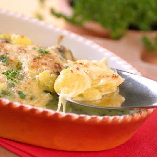 Rezept Kartoffel-Bärlauch-Gratin