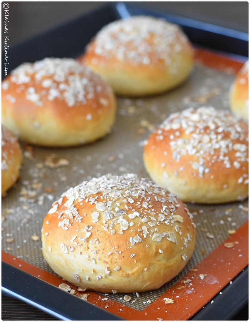 Rezept Kartoffel-Burgerbuns mit Haferflockentopping